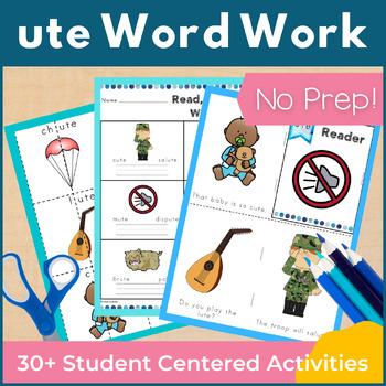 Word Work ute Word Family Long U NO PREP