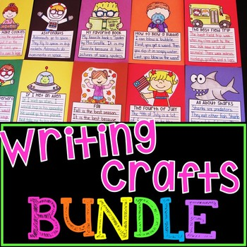 NO PREP Writing Crafts BUNDLE {Growing}