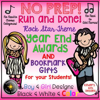 NO PREP Year End Awards. Rock & Roll Theme, 1-6, Boy & Gir