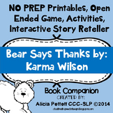 NO PREP worksheets, Activites and games BEAR says THANKS B