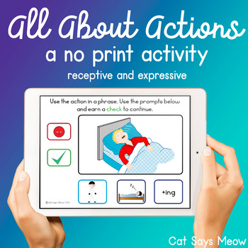 NO PRINT! All About Actions: Identifying, Naming, Phrases