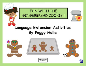 NO PRINT Fun With Gingerbread Man Speech and Language Acti