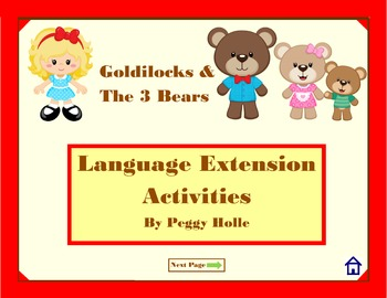 NO PRINT Goldilocks & the 3 Bears Speech and Language Activities
