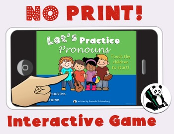 NO-PRINT Let's Learn About Pronouns: Receptive Language In