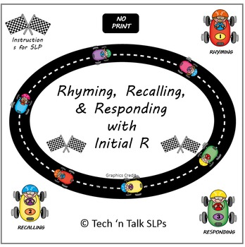 NO PRINT Rhyming, Recalling & Responding with Initial R