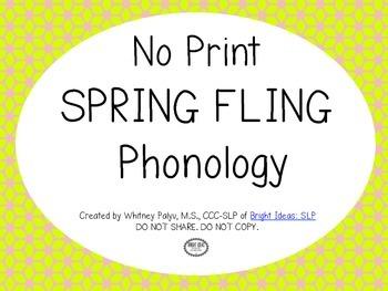 NO PRINT - Spring Fling Phonology