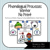 NO PRINT Winter Phonological Processes Pack