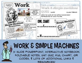No Prep Work & Simple Machines PowerPoint Interactive Note