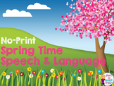 NO-Print Spring Speech and Language