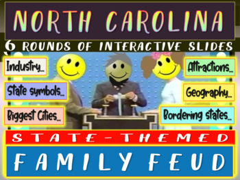 NORTH CAROLINA FAMILY FEUD Engaging game about cities-geog