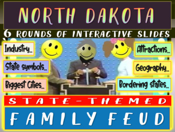 NORTH DAKOTA FAMILY FEUD! Engaging game about cities, geog