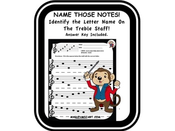 NOTE SPELLER- Name Those Notes Treble Staff! Great for Mus
