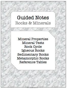 NOTES BUNDLE - Rocks & Minerals *EDITABLE* w/ PowerPoint!