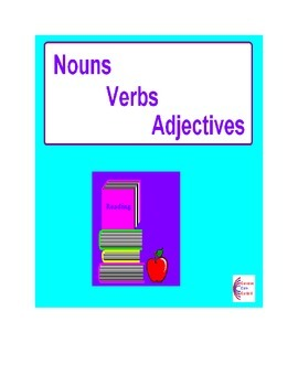NOUNS, VERBS, ADJECTIVES Over 100 Common Core Language ELA