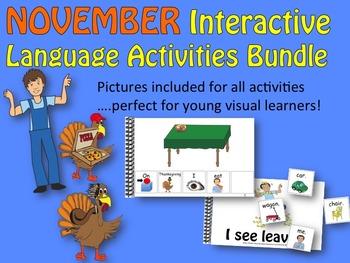 NOVEMBER Interactive Language Activities Bundle