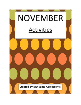 NOVEMBER- Re-usable Activities