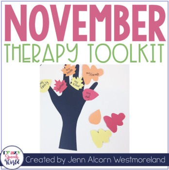 NOVEMBER Theme Therapy Toolbox