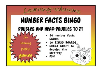 NUMBER FACTS BINGO - Doubles and Near Doubles to 21