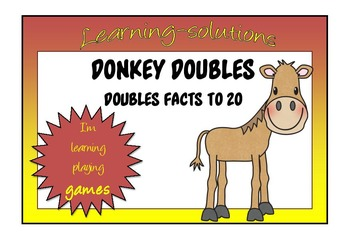 NUMBER FACTS - Doubles Facts to 20 - DONKEY CARD GAME