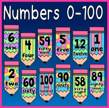 NUMBER FLASHCARDS 0-100 TEACHING RESOURCES MATHS NUMERACY