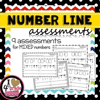 NUMBER LINE ASSESSMENTS for Mixed Numbers