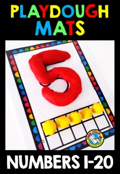 NUMBER PLAYDOUGH MATS: NUMBERS TO 20: TEN FRAME PLAY DOUGH MATS