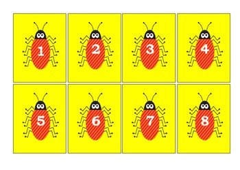 NUMBER SEQUENCE CARDS - 1-50