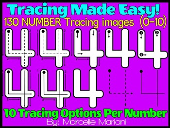 NUMBER TRACING- TRACING NUMBERS CLIPART-Correct NUMBER For