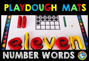 NUMBER WORDS PLAYDOUGH MATS: NUMBERS TO 20: NUMBER SENSE P