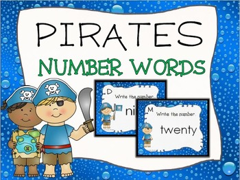 Pirate Number Words Task Cards