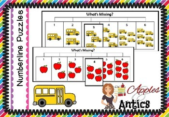 Numberline Puzzles to 10 - School Supplies