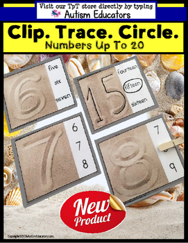 NUMBERS and Tracing Fine Motor TASK CARDS for AUTISM and S