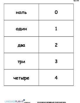 NUMBERS AND COLORS FLASHCARDS (RUSSIAN 2015 EDITION)