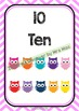 Back To School - NUMBER CHART 1-20 - Owl - Classroom Decor