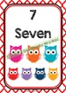 Back To School NUMBER CHART 1-20 - Owls - Classroom Decor