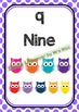 Back To School - NUMBERS CHART - Owls - Classroom Decor -
