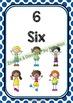 Back To School NUMBER CHART - Kids - Classroom Decor - Polka Dots