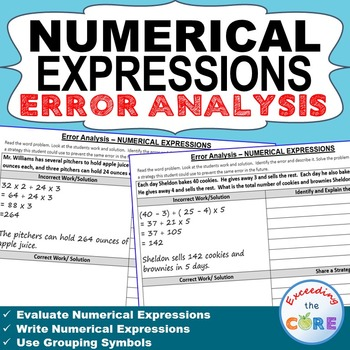 NUMERICAL EXPRESSIONS  Error Analysis - Find the Error