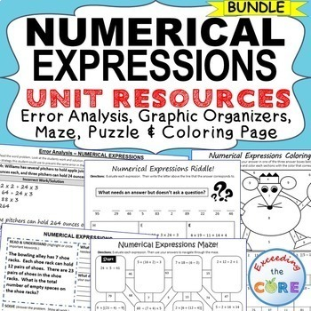 NUMERICAL EXPRESSIONS BUNDLE Error Analysis, Graphic Organ