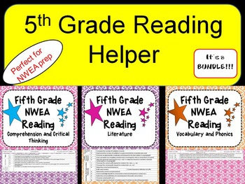 NWEA- Fifth  Grade Helper- Reading BUNDLE