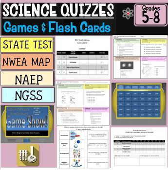 NWEA MAP Science Bundle RIT 201-210 and 221-230 5th, 6th,