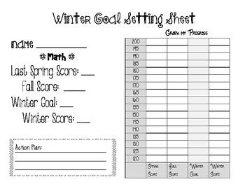 NWEA Map Winter Goal Setting Worksheet
