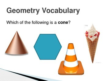 NWEA Math Geometry Vocabulary DesCartes Vocabulary Primary
