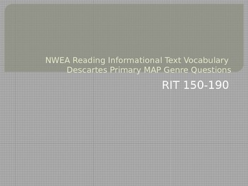 NWEA Reading Informational Text Vocabulary Descartes MAP P
