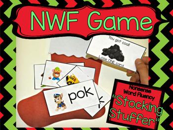 Nonsense Word Fluency Christmas Game
