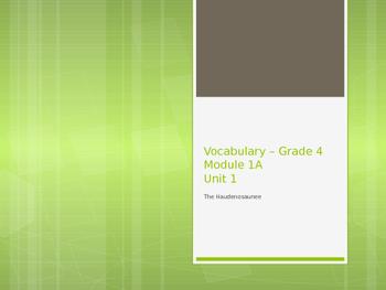 NY Engage ELA 4th grade Module 1A Vocabulary
