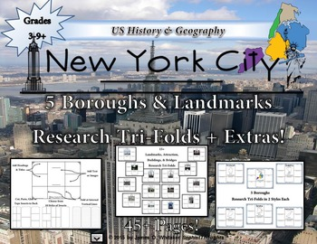 NYC 5 Boroughs, Landmarks, Attractions, & Bridges Research