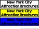 NYC New York City Attractions Trifold Brochure Project Wit