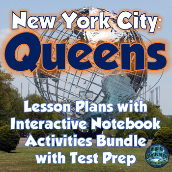 NYC Queens Lesson Plans and Interactive Notebook MEGA Bundle