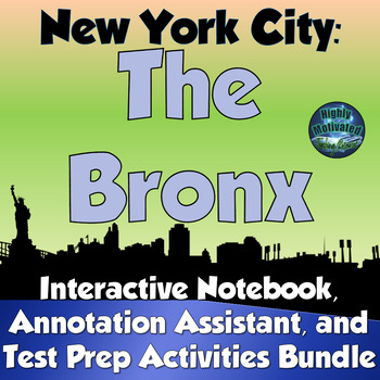 NYC The Bronx Interactive Notebook Activities Bundle